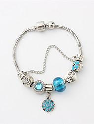 cheap -Women's Cubic Zirconia / Synthetic Diamond Beads / Tennis Chain Cuff Bracelet / Strand Bracelet - Heart, Flower Shape Stylish, Vintage Bracelet Light Blue For Party / Date