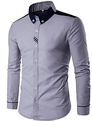billige -herre går ud skjorte - solid farvet skjorte krave