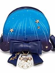 baratos -Mulheres Bolsas PU Bolsa de Ombro Laço(s) Azul / Azul Escuro