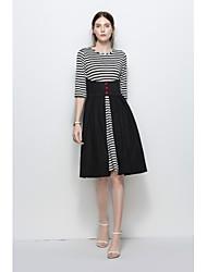 cheap -women's cotton a line dress knee-length