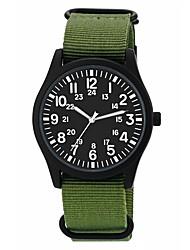 Недорогие -Муж. Спортивные часы Японский Японский кварц Жад / Цвета морской волны 30 m Защита от влаги Cool Аналоговый На каждый день Мода - Темно-синий Камуфляж Зеленый Один год Срок службы батареи