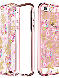 Недорогие -BENTOBEN Кейс для Назначение Apple Кейс для iPhone 5 Покрытие / Полупрозрачный / С узором Кейс на заднюю панель Фрукты Мягкий ТПУ для iPhone SE / 5s / iPhone 5