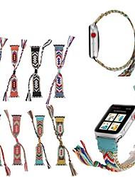 abordables -Bracelet de Montre  pour Apple Watch Series 4/3/2/1 Apple Bracelet en Cuir Nylon / Vrai Cuir Sangle de Poignet