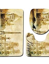 Недорогие -3 предмета Классика Коврики для ванны 100 г / м2 полиэфирный стреч-трикотаж Винтаж нерегулярный Cool