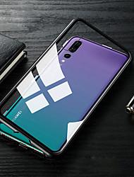 baratos -Capinha Para Huawei MediaPad P20 / P20 lite Translúcido Capa Proteção Completa Sólido Rígida Vidro Temperado / Metal para Huawei P20 / Huawei P20 Pro / Huawei P20 lite