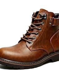 Недорогие -Муж. Армейские ботинки Замша Осень На каждый день Ботинки Водостойкий Сапоги до середины икры Черный / Коричневый / на открытом воздухе