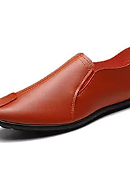 Недорогие -Муж. Комфортная обувь Полиуретан Осень Мокасины и Свитер Черный / Оранжевый