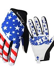 Недорогие -Спортивные перчатки Перчатки для велосипедистов С защитой от ветра / Водонепроницаемость / Сохраняет тепло Полный палец дерматин / сверхтонкие волокна