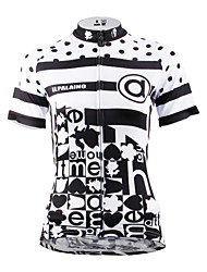 ILPALADINO Women s Short Sleeve Cycling Jersey - Black Black with White  Polka Dot Plus Size Bike Jersey Top Breathable Quick Dry Ultraviolet  Resistant ... ad04cb294