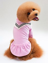 preiswerte -Hunde / Katzen Pullover Hundekleidung Solide Schwarz / Rosa Baumwolle Kostüm Für Haustiere Unisex Lässig / Alltäglich / Warm-Ups