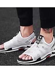 preiswerte -Herrn Komfort Schuhe Gitter Sommer Sandalen Weiß / Schwarz / Grau