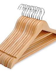 abordables -En bois Multifonction Vêtement Cintre, 6pcs