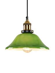 baratos -Europa do norte moderna pingente de vidro luz do vintage criativo sala de estar sala de jantar corredor café pingente lâmpada