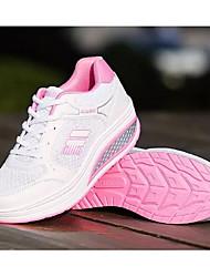 """Недорогие -Жен. Комфортная обувь Кожа / Сетка Весна & осень На каждый день / Стиль """"Школьная форма"""" Кеды На плоской подошве Круглый носок Лиловый / Пурпурный / Розовый и белый"""