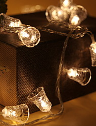 abordables -1.2m Guirlandes Lumineuses 10 LED Blanc Chaud Cool Piles AA alimentées 1pc
