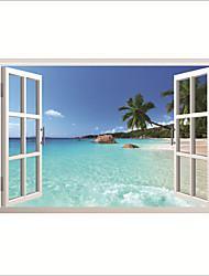 Недорогие -Декоративные наклейки на стены - Простые наклейки Пейзаж / Море Гостиная / Офис