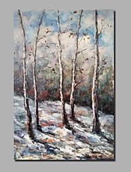 abordables -Peinture à l'huile Hang-peint Peint à la main - Abstrait / Paysage Classique / Moderne Toile