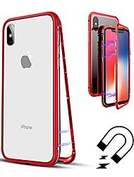 Недорогие -Кейс для Назначение Apple iPhone XR / iPhone XS Max Полупрозрачный Чехол Однотонный Твердый Закаленное стекло для iPhone XS / iPhone XR / iPhone XS Max