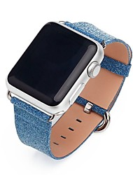 abordables -PU Bracelet de Montre  Sangle pour Apple Watch Series 3 / 2 / 1 Noir / Bleu / Rose 20cm / 7.9 Pouces 2.3cm / 0.91 Pouces