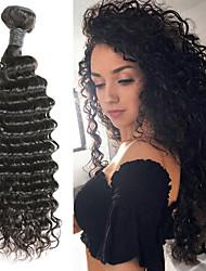 Недорогие -1 комплект Индийские волосы Крупные кудри человеческие волосы Remy Накладки из натуральных волос 8-30 дюймовый Ткет человеческих волос Мягкость / Лучшее качество / Новое поступление