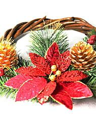 Недорогие -Гирлянды / Рождественские украшения Праздник деревянный Круглый Для вечеринок / Оригинальные Рождественские украшения
