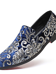Недорогие -Муж. Официальная обувь Сатин Наступила зима Классика / Английский Мокасины и Свитер Дышащий Черный / Красный / Синий / Для вечеринки / ужина