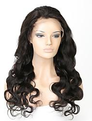 Недорогие -Необработанные натуральные волосы Лента спереди Парик Средняя часть стиль Бразильские волосы Естественные кудри Парик 130% Плотность волос с детскими волосами Легко туалетный Природные волосы 100