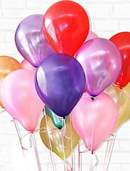 Недорогие -Воздушные шары Круглые Творчество / сгущение Вечеринка / Свадьба Декорации для вечеринок 100 шт