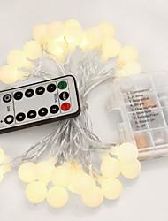 Недорогие -5 метров Гирлянды 50 светодиоды Белый Декоративная / обожаемый Аккумуляторы 1 комплект