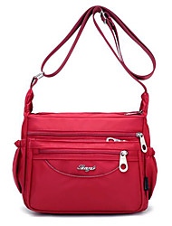 cheap -Women's Bags Nylon Shoulder Bag Zipper Solid Color Purple / Fuchsia / Wine
