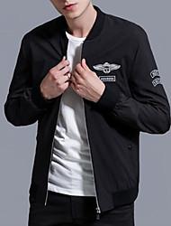 abordables -veste de sortie pour homme - lettre / bloc de couleur