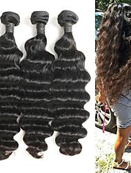 baratos -3 pacotes Cabelo Brasileiro Onda Profunda 10A Cabelo Natural Remy Extensões de Cabelo Natural 8-26 polegada Natural Tramas de cabelo humano Melhor qualidade Nova chegada Venda imperdível Extensões de