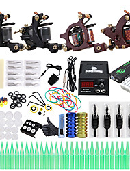 abordables -Solong Tattoo Machine à tatouer Kit de tatouage professionnel - 4 pcs Machines de tatouage, Professionnel LCD alimentation Case Not Included 4 machine x tatouage en alliage pour la doublure et