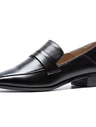 abordables -Femme Chaussures de confort Cuir Nappa Automne Mocassins et Chaussons+D6148 Talon Bas Bout fermé Noir / Beige