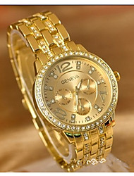 cheap -Women's Couple's Sport Watch Japanese Quartz Casual Watch Large Dial Alloy Band Analog Casual Fashion Silver / Gold / Rose Gold - Gold Silver Rose Gold