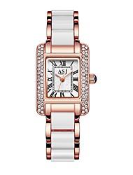 baratos -ASJ Mulheres Relógio Elegante Relógio de Pulso Japanês Quartzo 30 m Impermeável Relógio Casual Legal Aço Inoxidável Banda Analógico Casual Fashion Prata / Ouro Rose - Prata Ouro Rose