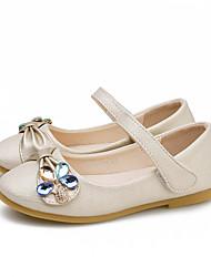 abordables -Fille Chaussures Polyuréthane Printemps & Automne Chaussures de Demoiselle d'Honneur Fille Ballerines Strass / Scotch Magique pour Enfants Or / Argent / Soirée & Evénement