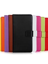 billiga -fodral Till Apple iPhone X / iPhone 6 Plånbok / Korthållare / med stativ Fodral Enfärgad Hårt Äkta Läder för iPhone X / iPhone 8 Plus / iPhone 8