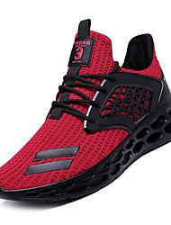 Недорогие -Муж. Комфортная обувь Сетка Осень Спортивные Спортивная обувь Для прогулок Дышащий Черный / Серый / Черный / Красный