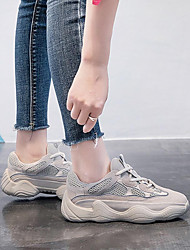 cheap -Women's Sneakers Camping / Hiking / Running / Jogging Lightweight, Anti-Slip, Wearproof Tulle / Cowhide White / Black / Red