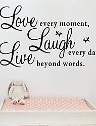 Недорогие -Декоративные наклейки на стены - Стикеры стикеров Words & Quotes Персонажи Спальня / В помещении / Влажная чистка / Съемная
