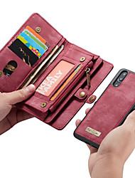 Недорогие -CaseMe Кейс для Назначение Huawei P20 Pro / P20 lite Кошелек / Бумажник для карт / Флип Чехол Однотонный Твердый Кожа PU для Huawei P20 / Huawei P20 Pro / Huawei P20 lite