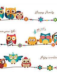 Недорогие -Декоративные наклейки на стены - Простые наклейки / Наклейки для животных Животные Спальня / Детская