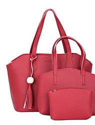 お買い得  -女性用 バッグ PU バッグセット 3個の財布セット ダックグレー / ライトグレー / Brown