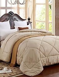 Недорогие -удобный - 1 одеяло Зима Пух белого гуся Однотонный