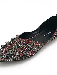 Недорогие -Жен. Комфортная обувь Полиуретан Осень На каждый день На плокой подошве На плоской подошве Заостренный носок Серый / Зеленый / Контрастных цветов