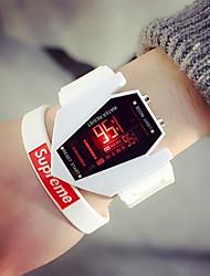 Недорогие -Муж. Для пары Спортивные часы Цифровой Календарь Фосфоресцирующий Повседневные часы Plastic Группа Цифровой На каждый день Мода Черный / Белый - Белый Черный