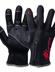 Недорогие -Спортивные перчатки Перчатки для велосипедистов / Перчатки для сенсорного экрана С защитой от ветра / Водонепроницаемость / Сохраняет тепло Полный палец Нейлон / сверхтонкие волокна