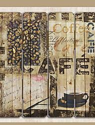 baratos -Personagens Decoração de Parede De madeira Europeu Arte de Parede, Tapeçarias Decoração