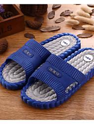 Недорогие -Муж. Комфортная обувь ПВХ Лето На каждый день Тапочки и Шлепанцы Черный / Темно-синий / Синий
